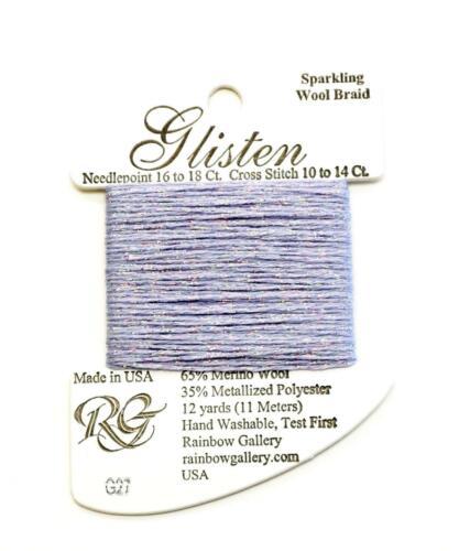 "GLISTEN Sparkling Braid #27 /""Orchid Ice/"" Needlepoint Thread Rainbow Gallery"