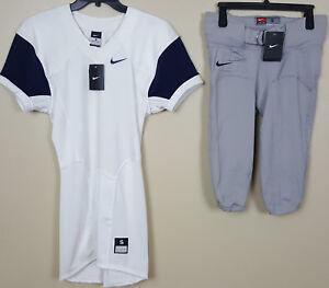 promo code 1ec5e e00fb Details about NIKE PRO COMBAT FOOTBALL JERSEY + PANTS UNIFORM SET WHITE  NAVY GREY NEW (SMALL)