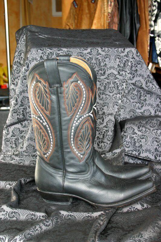 Billig gute Qualität Westernstiefel WB-05, Stars&Stripes, Stiefel, Cowboystiefel