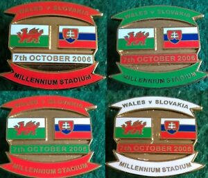 Wales-v-Slovakia-Euro-2008-Qualifier-Cardiff-7-October-2006-Pin-Badge
