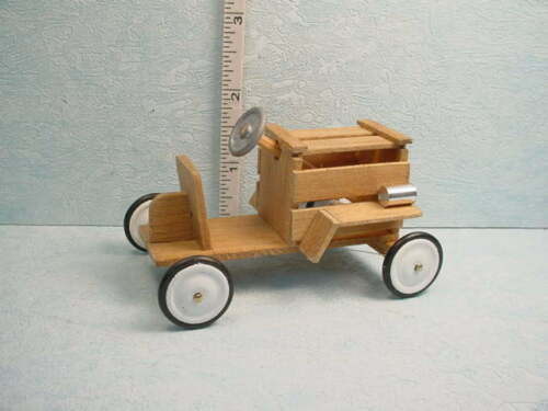 Handcrafted Dollhouse Miniature Soap Box Car Wooden 1//12th Scale