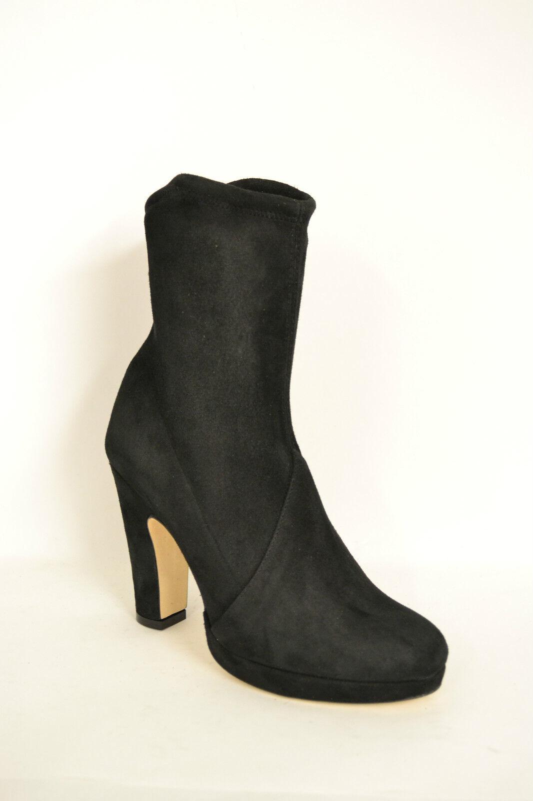 Grandes zapatos con descuento STIVALI DONNA ARTIGIANALI VERA PELLE CAMOSCIO ELASTICIZZATO NERO MADE IN ITALY