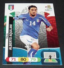 ALBERTO AQUILANI ITALIA ITALIE FOOTBALL CARD PANINI UEFA EURO 2012