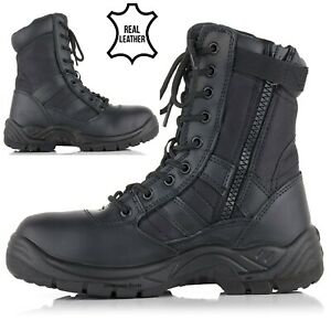 MENS SAFETY BOOTS ARMY MILITARY POLICE