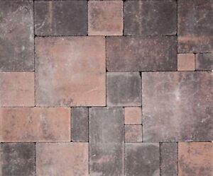 pflastersteine antik gekollert steine anthrazit braun altstadt pflaster beton ebay