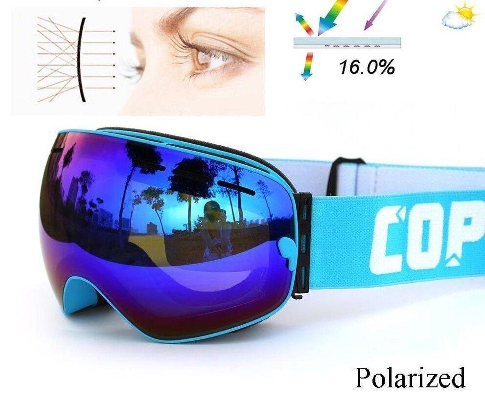 Polarized Ski Goggles Lens Snowboard UV400 Anti-fog Glasses Skiing Eyewear Set