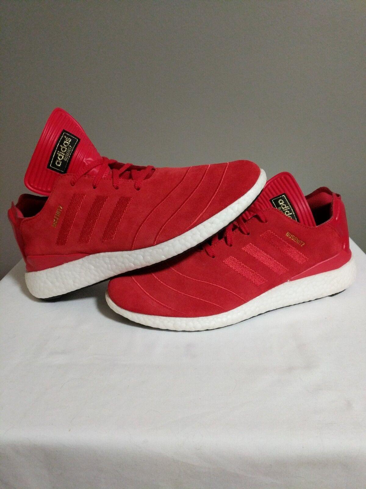 Adidas busenitz Pure Boost Scarlet Red White Sz 10.5