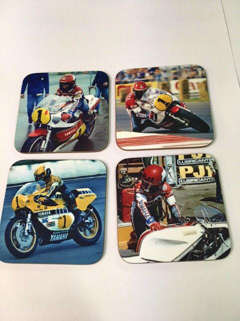 Kenny Roberts Américain Américain Américain MotoGP Légende Ensemble dessous de verre d63f80