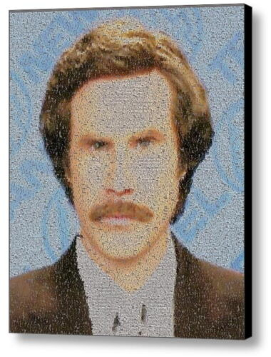 The Legend of Ron Burgundy Quotes Mosaic Framed 9X11 Limited Edition Anchorman