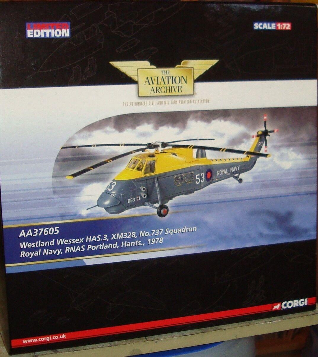 Corgi-Westland Wessex helicóptero HAS.3 - XM328 737 Sqn RNAS Portland -1 72
