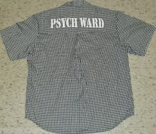 PSYCH WARD Button Up Shirt sz. Medium (BRAND NEW) Halloween Costume Psycho Jail