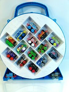 Lot-of-16-Thomas-the-Train-and-Friends-Minis-Train-Lot-with-Carrying-Case