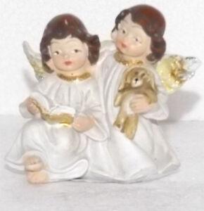 Navidad-Decoracion-Decoracion-De-Navidad-Angel-Conejo-Vinilo-Duro-7-4-6-5cm
