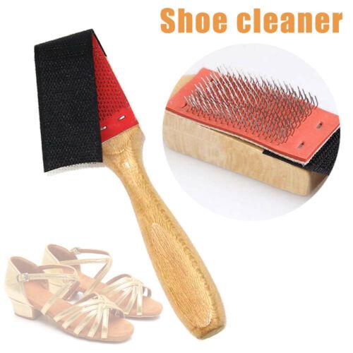 Wooden Shoe Brush Cleaning Maintenance Latin Ballet Dancing Shoes Suede Sole YU