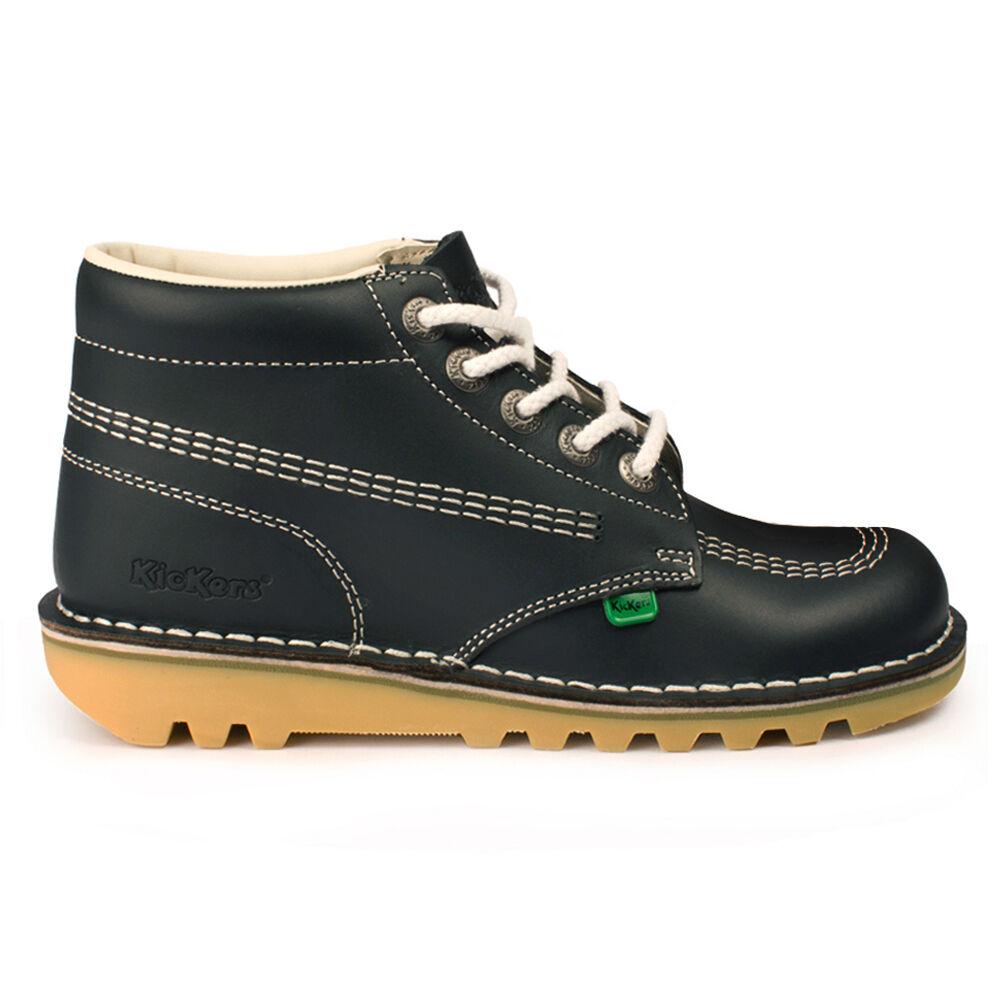 donna Kickers  Kick Hi Navy Leather stivali  vendita con alto sconto