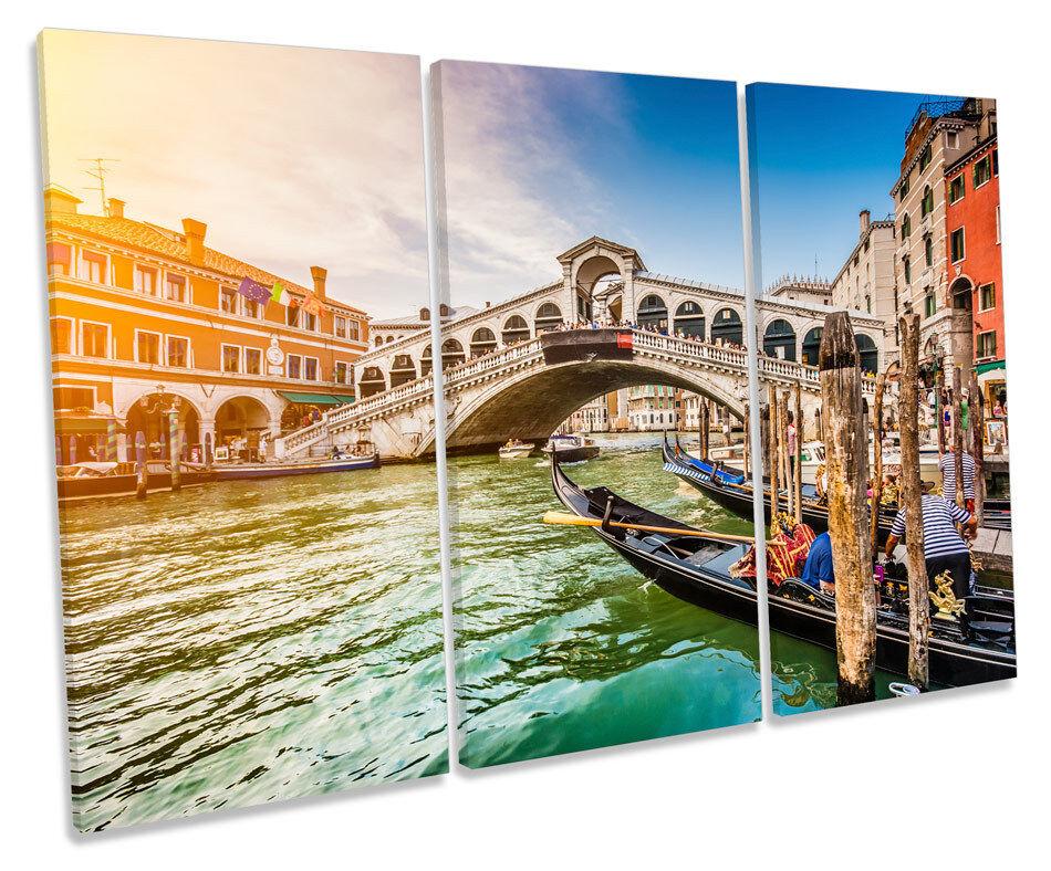 PONTE DI RIALTO Venezia Italia a Muro Muro Muro ARTE Treble BOX Frame stampa 72e97f