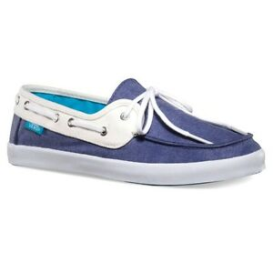 Details about Vans Off the Wall Womens Surf Chauffette STV Navy White Boat Shoes 5.5 Canvas