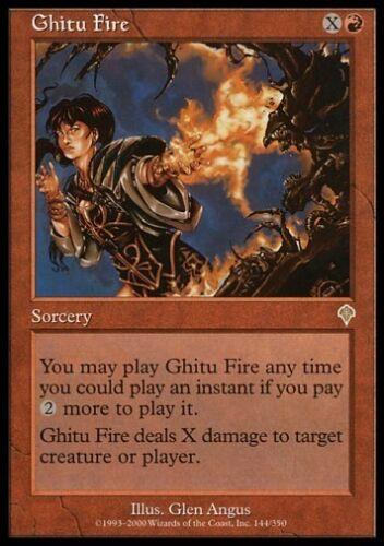 MTG 1x GHITU FIRE Invasion *Rare DEUTSCH NM*