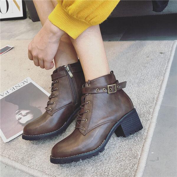 botas stivaletti bassi zapatos anfibi 4  marrón eleganti pelle sintetica 9513