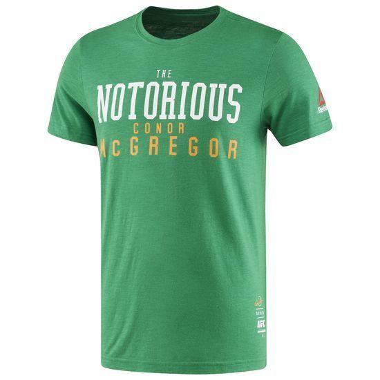 Reebok UFC FAN CONOR MCGREGOR RETRO TEE Green MMA T-shirt