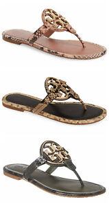 NIB-Tory-Burch-Metal-Miller-Leather-Thong-Sandal-Leccio-Desert-Blush-Roccia-6-9