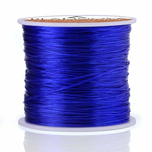 Blue Elastic Stretch Beading Cord Bracelet String Thread Roll Jewelry Making
