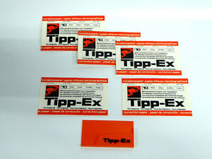 1x 50er TIPP EX Korrekturpapier weiss für Schreibmaschine Universalspule # B710