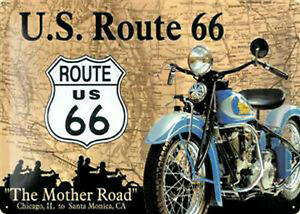 Nostalgic-Type-Route-US-66-Mother-Road-Chicago-Santa-Monica-Tin-Sign-20-x-30