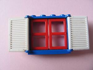 LEGO 3853 3854 @@ Window 1 x 4 x 3 - Blue Red