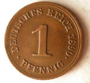 1890-F-Aleman-Empire-Pfennig-Excelente-Moneda-Aleman-Bin-12