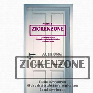 Wandtattoo Zickenzone Zicken Zone Zicke Wandspruch Spruch Wandaufkleber 210 Ebay