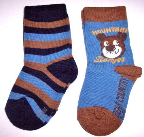 74//80 98//104 Pinguin oder Elch Gr 2er Pack Topolino Baby Socken Mountain Teddy