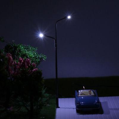 10pcs Model Railraod Train HO Scale Lamp Post 9cm 1:87 Street Light LQS68