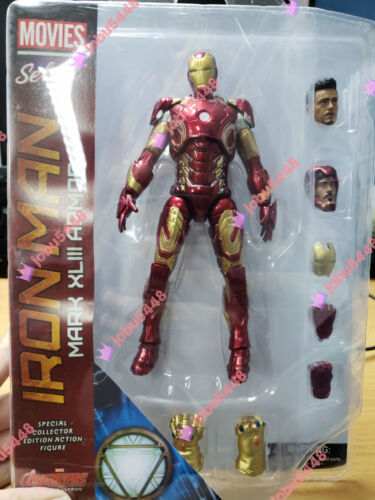 Figure New in Box Marvel Select Mark XLIII Armor Iron Man MK43 PVC 7 in environ 17.78 cm
