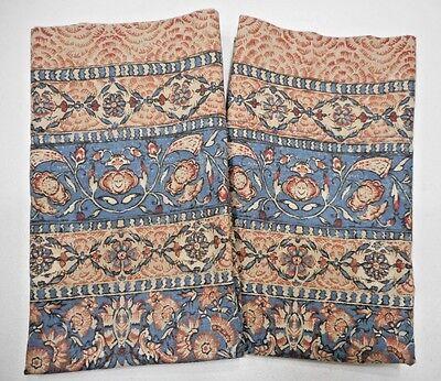 2 Ralph Lauren Unknown Pattern Standard Pillowcases Persian Rug Linen Blue Red