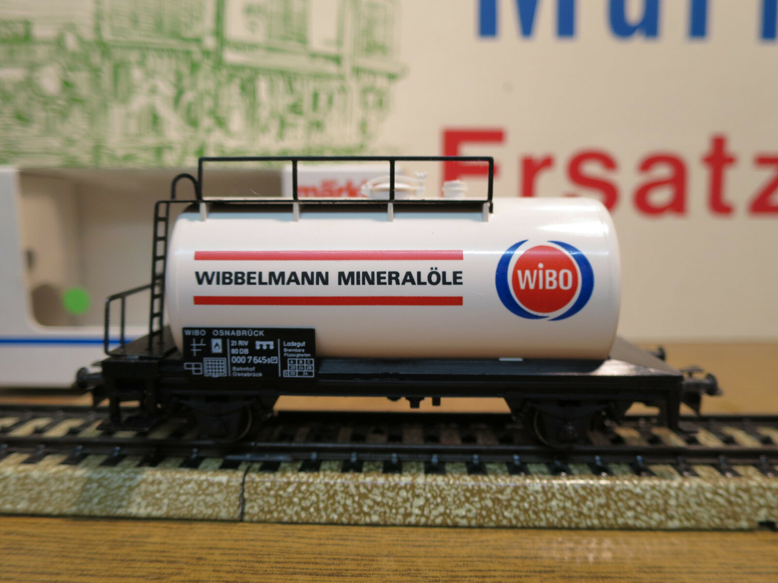 (h04) Märklin Car Special  WIBO  Wibbelmann mineral oils Top NEW RARE