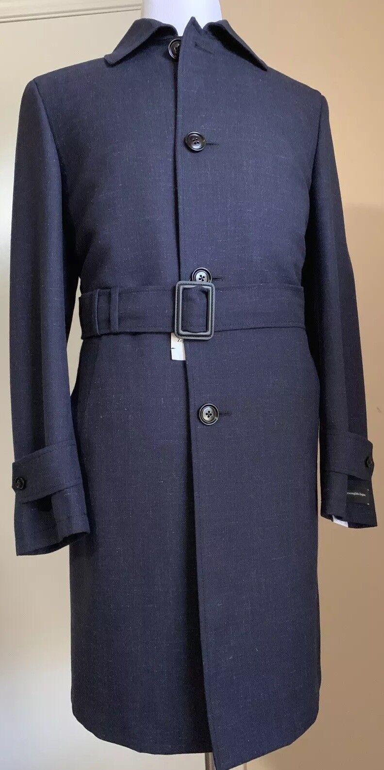 New 3850 Ermenegildo Zegna Trench Coat Coat DK Blau/Navy 38R US ( 48R Eu ) Ita.