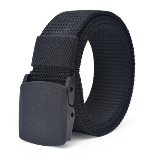 Men/'s Plastic Cam Buckle Nylon Canvas Tactical Waistband Webbing Military Belt