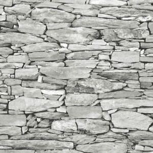 Details About Light Grey Stone Wallpaper Realistic 3d Effect Natural Wall Design 1283