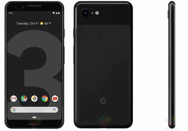 Unlocked GOOGLE PIXEL 3 Just Black 'Excellent' 64GB 5.5 G013A With Warranty