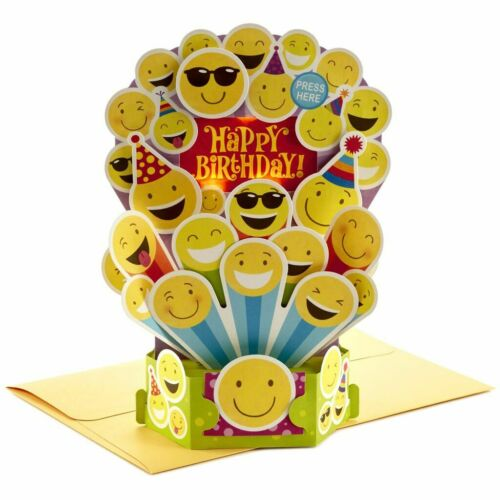 Hallmark Birthday Card ~ Paper Wonder Musical Light Up Pop Up ~ Happy by Pharell