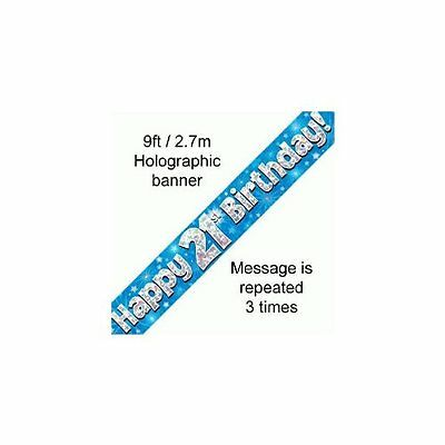 2.7M Long 21st Happy Birthday Banner Bunting Garland Free UK Postage