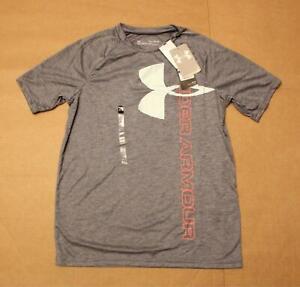 Under Armour Boys Tech Split Logo Hybrid T-Shirt