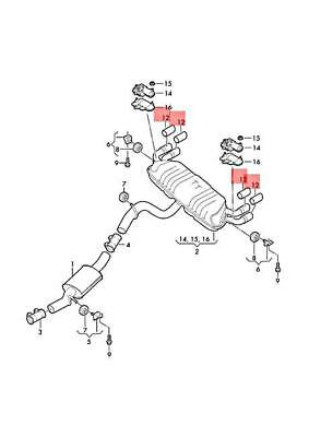 Genuine Loop-around fittings left = right left=right AUDI 8N7858367A