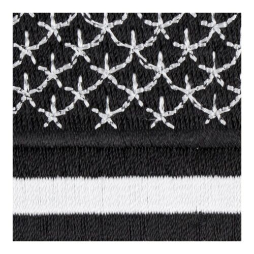 U.S American Flag Black /& White Patch Flag Patches
