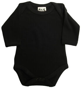 SALE ITEM 5 pack of Baby Long Sleeve Bodysuits in Black, Size 6-12 Months