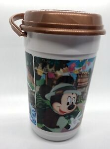 WALT DISNEY Popcorn Bucket With Lid & Handle by Whirley Mickey Minnie