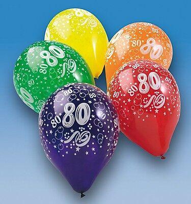 "5 Luftballons mit Druck""80""Geburtstag,Party,Luftballon"