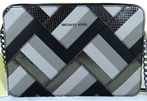 ed9530f5e253 Image is loading Michael-Michael-Kors-Jet-Set-Marquertry-Patchwork-Large-