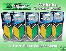 5 Packs Treefrog WAKABA YOUNG LEAF  Car Air Freshener BLACK SQUASH Scent.JDM
